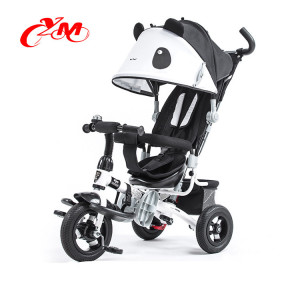 Good quality metal baby tricycle China/4 i n 1 functional baby walker tricycle/blue children toy tricycle with trailer