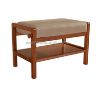 Simple modern wood walnut stools for shoes American country household shoe storage rack
