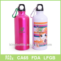 2015 best selling 600ml aluminium bottle with carabiner wholesale