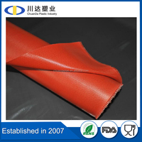 High performance Anti-static silicone rubber coated fiberglass cloth, Corrosion Resistance silica fabric supplier
