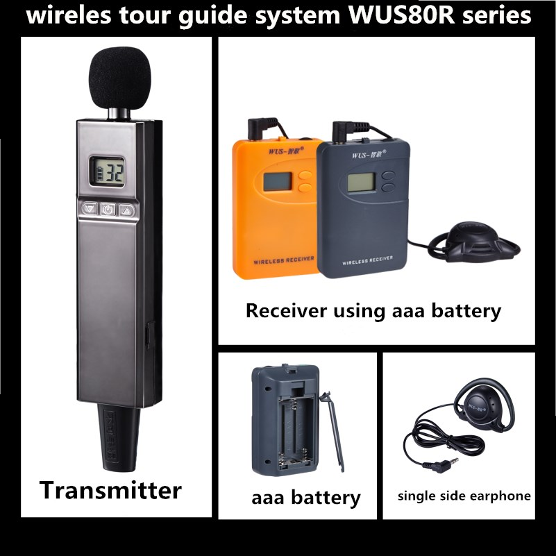 200-300 working distance UHF Wireless Tour Guide system, Audio <strong>Communication</strong> Systems ,customized 99 channels