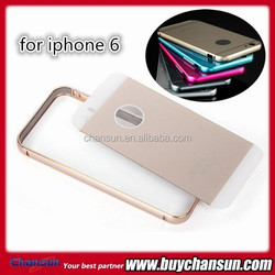 Hot selling Aluminum metal bumper with pc back cover for iphone 6