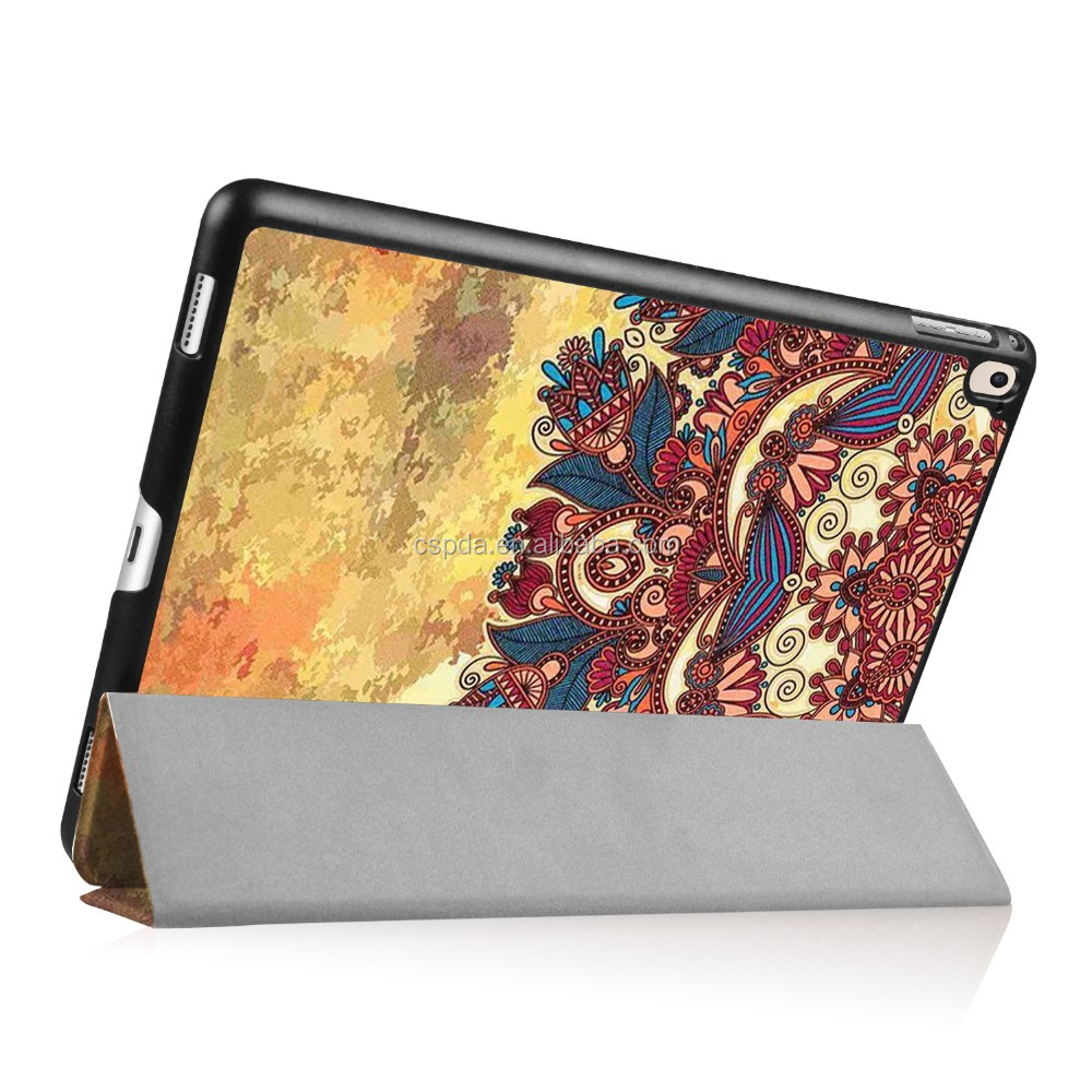2016 Leather Flip Stand Up Cover Case For iPad Pro 9.7 With Fancy Printing