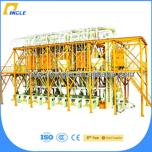 Low price flour mill Pingle wheat and corn flour mill machines