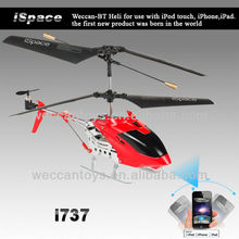 i737 -Weccan iphone plastic mobile phone toy! 3ch rc chopper 737 control by mobile phone with super gyro flying stable