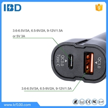 IBD New design CE FCC dual usb 12V Car battery Charger,mobile phone USB Car Charger for iphone 6