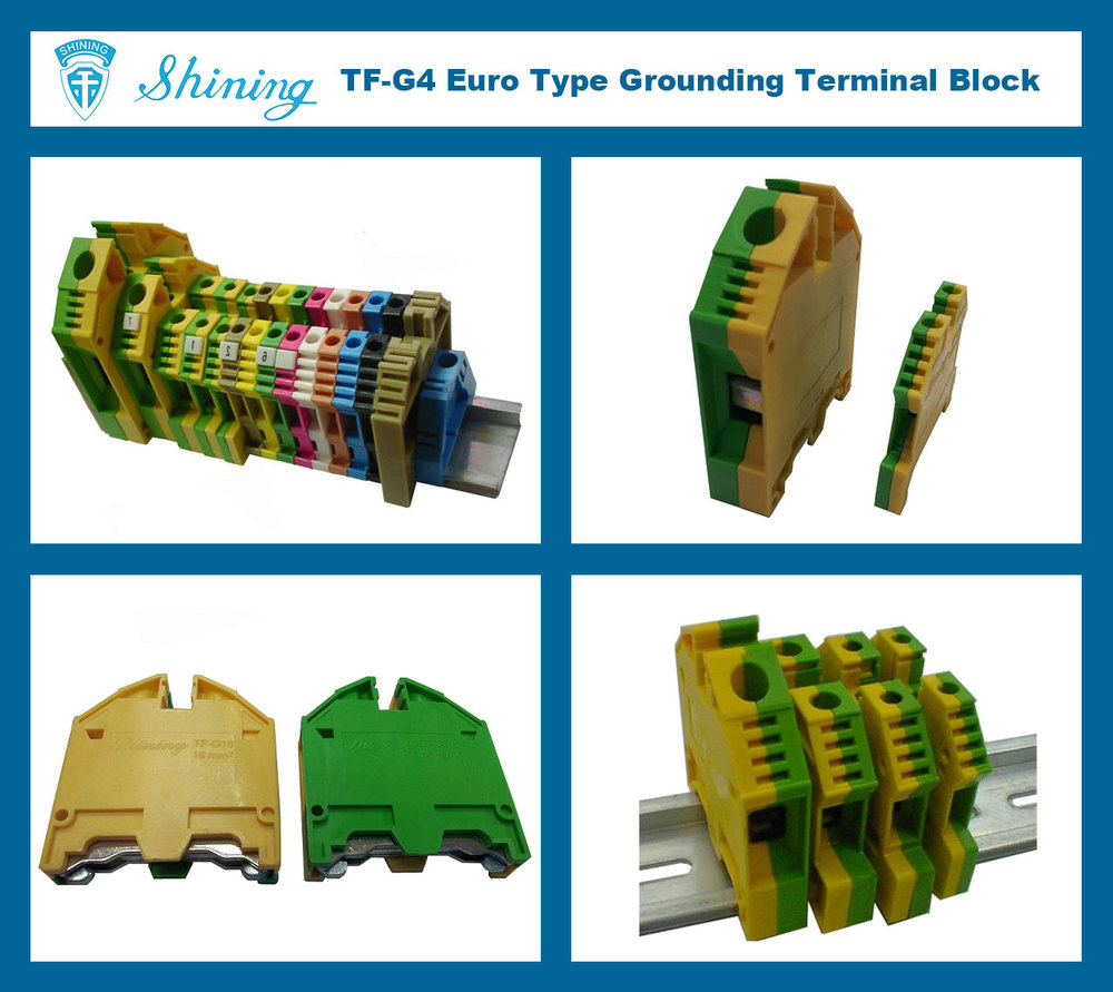TF-G4 Plastic Electrical Earth Screw Terminal Block Connector
