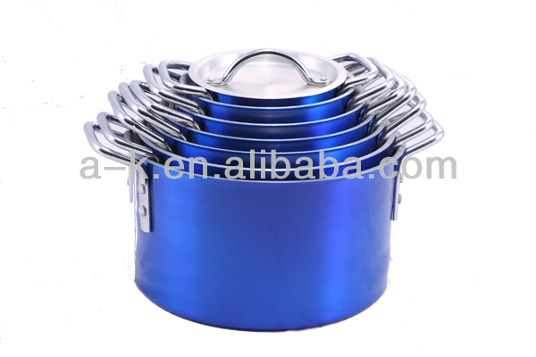 aluminium colored cookware / aluminum multi cooker