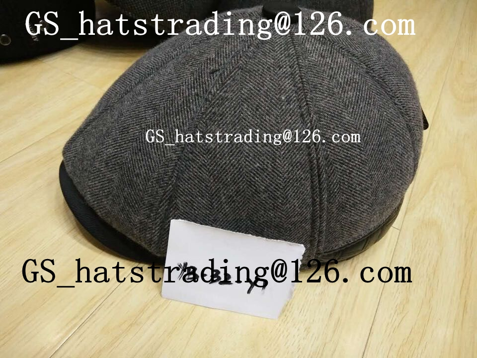 men's wholesale newsboy cap with winter material ivy hat
