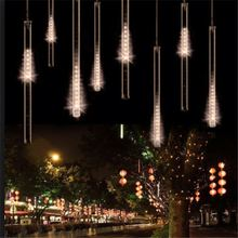 Twinkling led Snowfall dripping icicle falling meteor tube lights