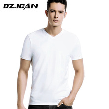 Wholesale Promotional 100% Cotton Bulk Plain V-Neck White T Shirts