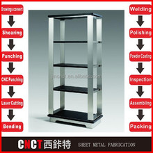 strong Stainless steel store displays shelf for market