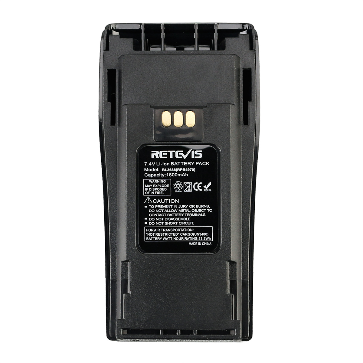 Retevis BL3688 Handheld Radio 7.4v 1800mAh Li-ion <strong>Battery</strong> for Motorola CP140/150/180/200/400/PR400/CP040/EP450/GP3188/GP3688