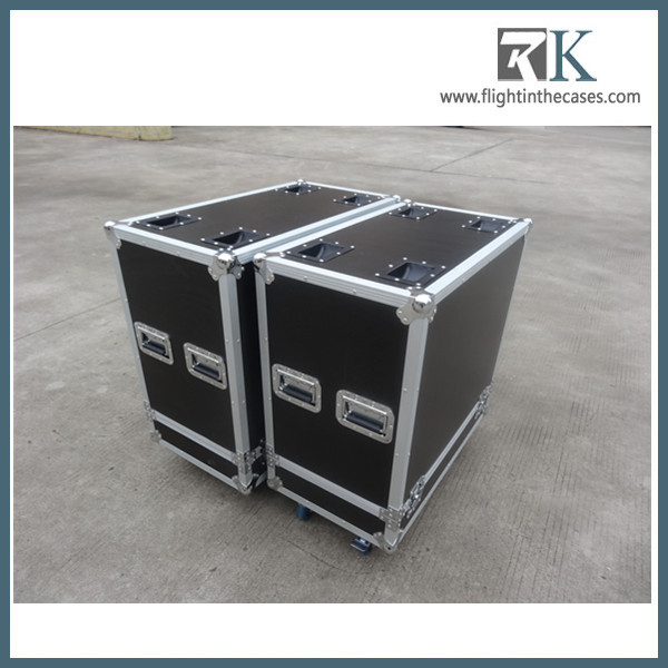 Professional Speaker Flight Case for Carrying 2 QSC K12 Speakers with Wheels