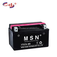 High performance YTX7A-BS 12V 6AH mf motorcycle battery