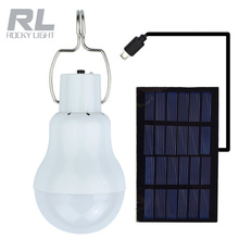 led rechargeable solar panel emergency light bulb with hook,led indoor energy bulb