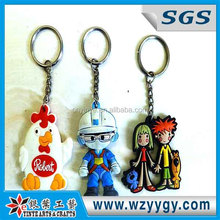 OEM soft pvc rubber personalized custom made keychains