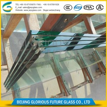 overlength polished translucent 19mm tempered glass stairs with quick delivery