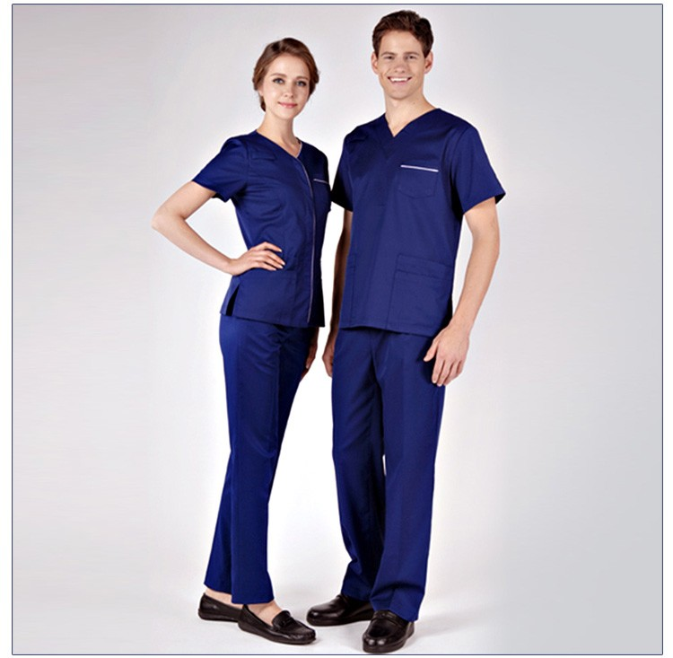 Cheap Nursing Navy Blue Scrubs Medical Clothing