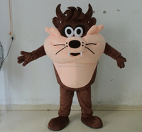 Soft plush cartoon Tasmanian mascot costume with adjustable helmet & mini cooling fan unisex adult Tasmanian mascot costume