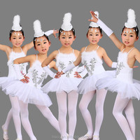New Fashion Fancy Girls' Ballet Dress Cute White Performance Wear 100~160cm Competition Dresses
