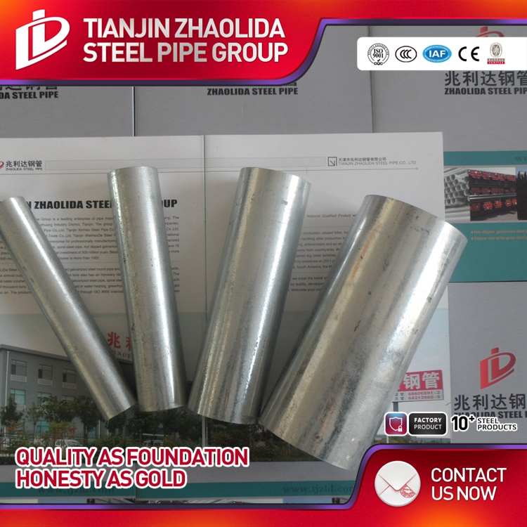 China manufacturers round pre galvanized steel pipe price list of pipe with ISO certificate