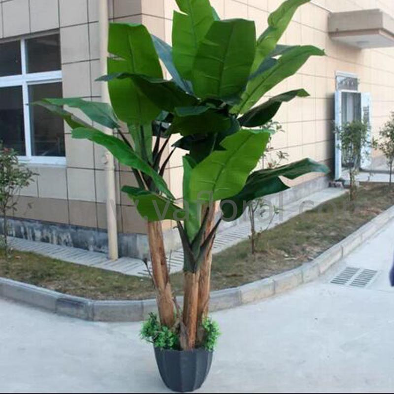 Yafloral special supply Plastic cloth artificial tree large artificial plant decorative banana tree
