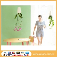 Shenzhen wholesale hanging flower pot best garden office decoration