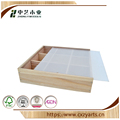 BSCI &FSC handmade cheap unfinished paulownia wooden presentation box with frosted lid