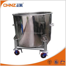 Stainless steel movable tank with Universal wheel