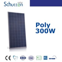 Schutten tire 1 A grade poly crystalline silicon 72 cells 300 watt solar photovoltaic panel module with CE/TUV/UL
