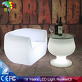 Plastic color changing Glowing led bar table Modern bar illuminated outdoor furniture