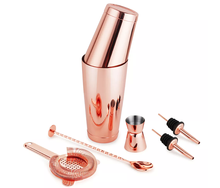 Stainless Steel Cocktail Shaker and Jigger Set