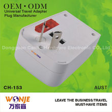 2012 Christmas day gift multi-nation travel adaptor with USB Popular in UAE