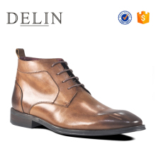 Fashion modern style men designer dress flat genuine leather shoes