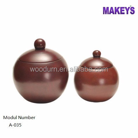 2016 Hot Sale Wood Factory Two Size Available Human Globe Shape Cremation Wooden Urns