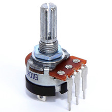 16mm Shaft WH148 Dual Rotary potentiometer with switch 10k 20k 100k