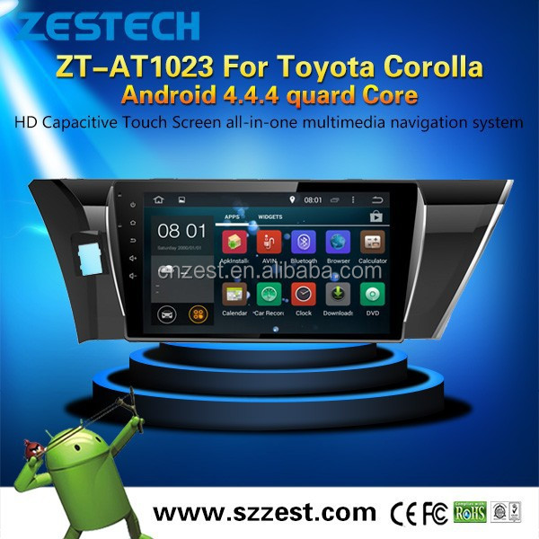 Android 4.4.4 up to 5.<strong>1</strong> <strong>1</strong> WiFI 3G Phone APP universal car radio for Toyota corolla <strong>1</strong>.6GHZ MCU 4 core