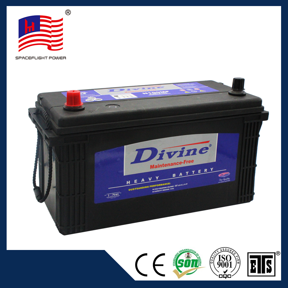 hot selling JIS style side terminal heavy duty maintenance-free batteries are 12 volt 100 ah