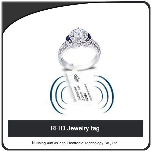 High Quality RFID Jewelry Sticker price tags/Jewelry hand tag