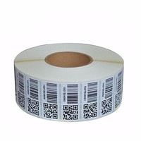 Unique Consecutive Serial Number Barcode Waterproof Paper qr Code Label Sticker Roll Printing