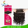 Aliexpress 9A Virgin Brazilian Human Hair Body Wave Lace Frontal Closure With Elastic 360 Lace Band Frontal Ponytail