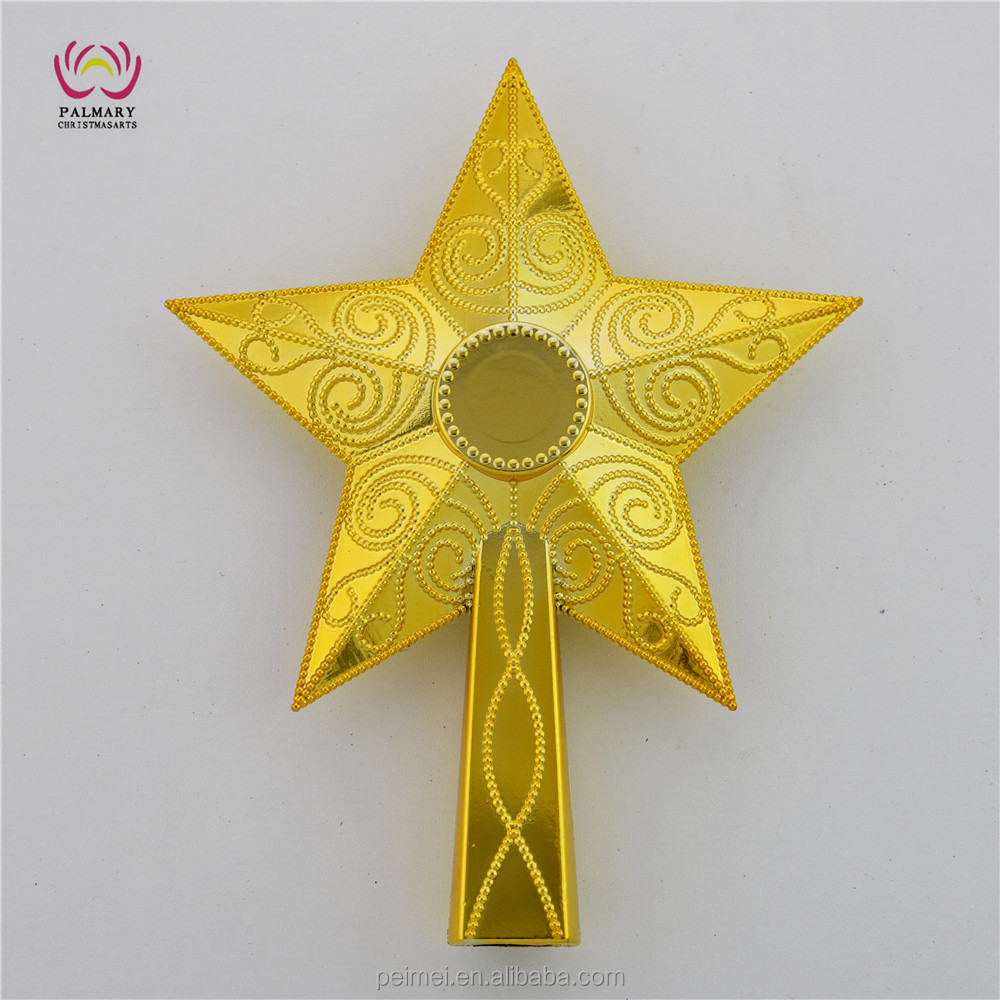 Christmas tree decorations Xmas plastic top star Shiny Xmas Decorative Tree Top