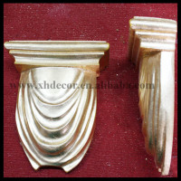 Poly resin corbel with gold leaf hand made exquise brace acanthus resin corbels