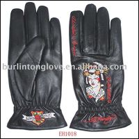 Oriental Style Ladies Fashion Leather Glove