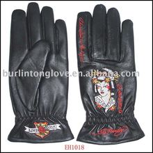 Oriental Style Ladies Fashion Leather Glove for Winter