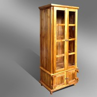 CLOSE BOOKCASE WITH GLASS DOORS