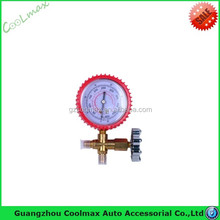 High quality R134A R410A manifold gauge with sight glass