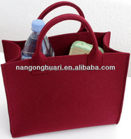 fashion red felt bag and strong shopping felt bag