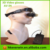 "New released 80""inch 3d video glasses 16:9 eyewear, 8G memory, AV IN function for ps3 etc"